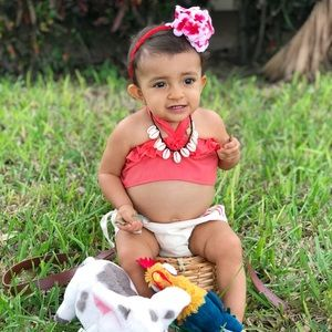 a6e4482bbc59c Baby Moana Outfit/Costume with Necklace